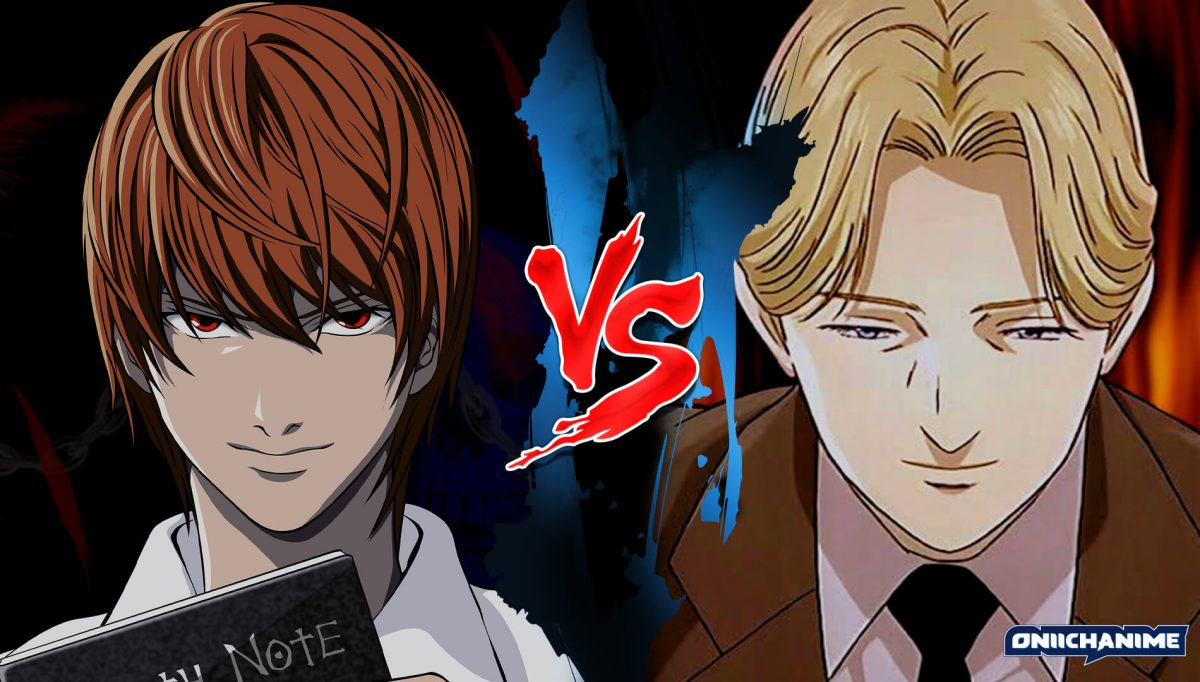 Light Yagami contra Johan Liebheart (Death Note y Monster)