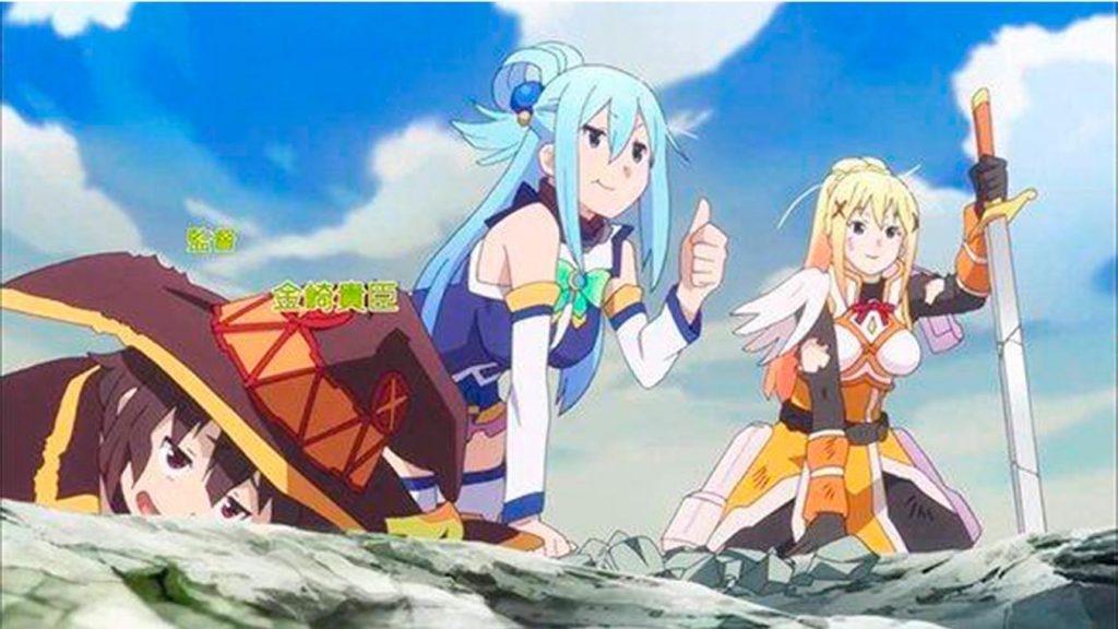 Los 5 mejores animes de Aventura de 2017 (Konosuba)