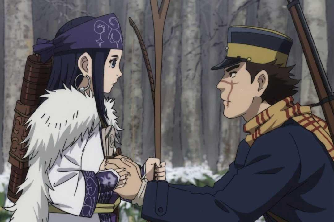 Los 5 mejores animes de Aventura Primavera 2018 (Golden Kamuy)