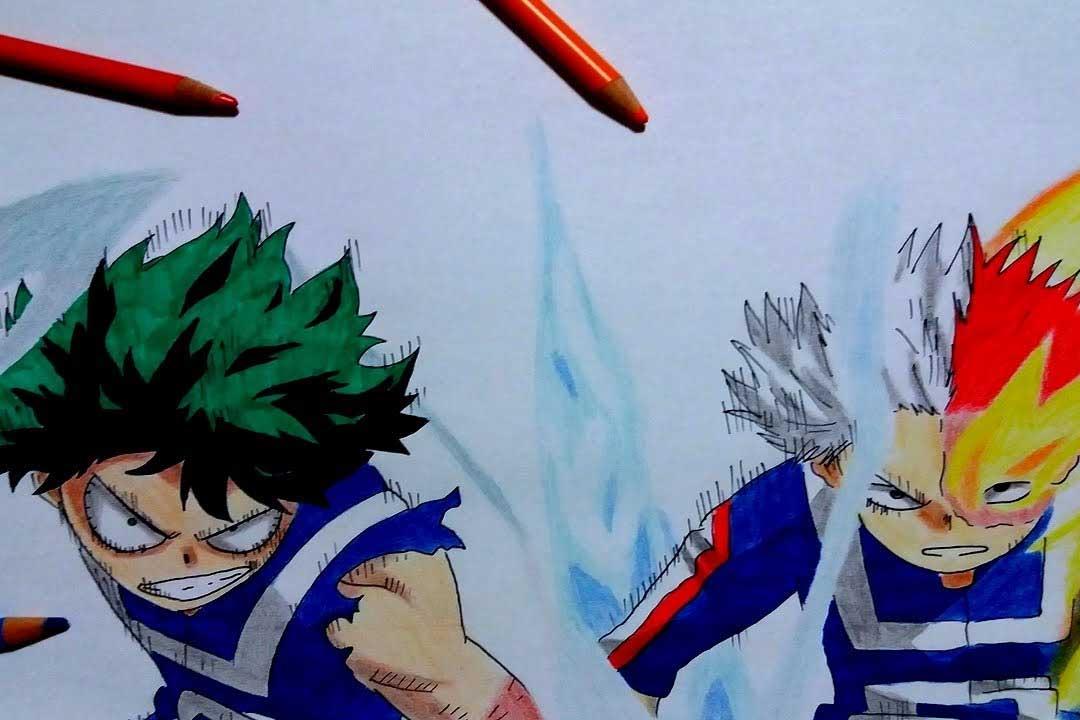 Las mejores batallas de Boku no Hero Academia (izuku midoriya vs shouto todoroki)