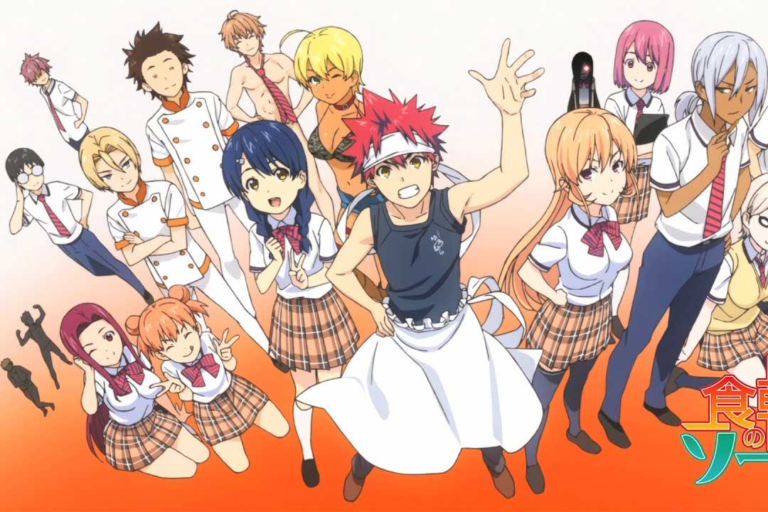 Los mejores animes Shounen (Shokugeki no Souma: Ni no Sara (Food Wars! The Second Plate))