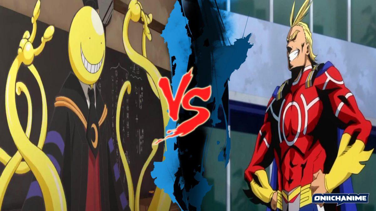 Koro-sensei contra All Might (Ansatsu Kyoushitsu y Boku no Hero Academia)