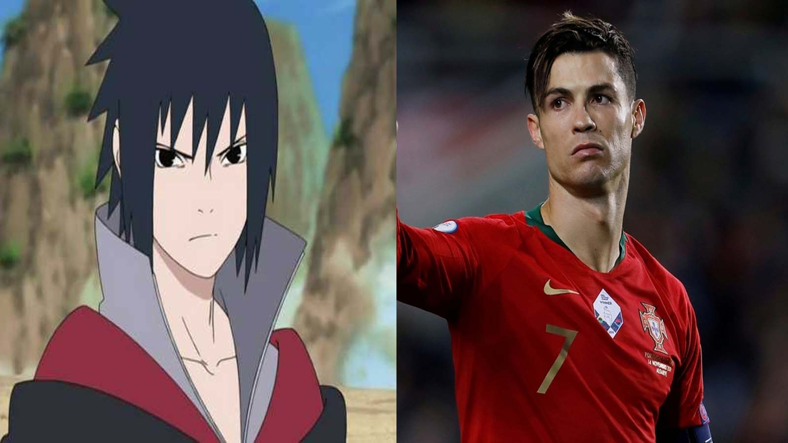 Personajes parecidos a Cristiano Ronaldo - Sasuke Uchiha