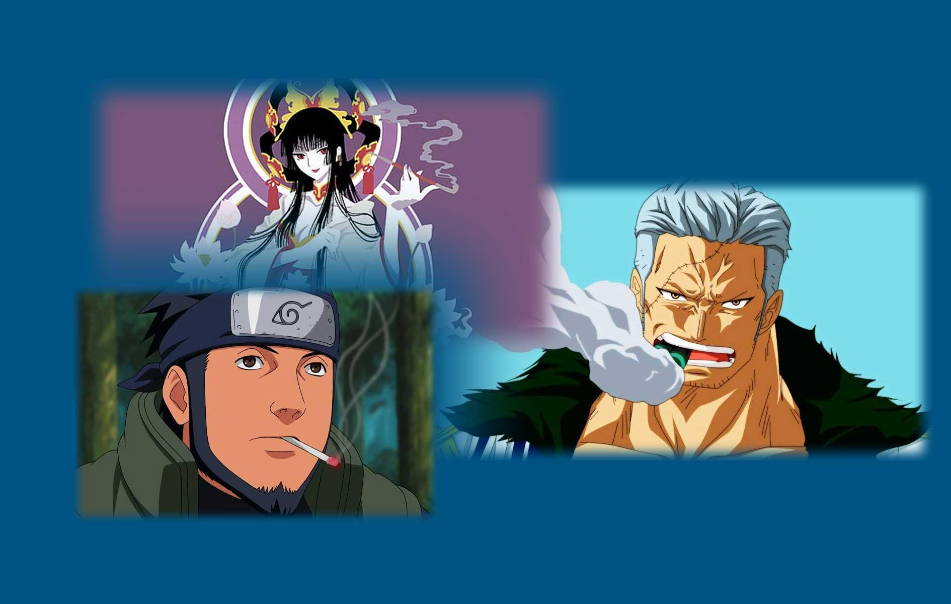 Mejores personajes del anime que fuman