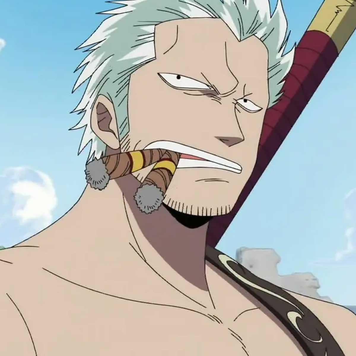Mejores personajes del anime que fuman - Smoker de One Piece
